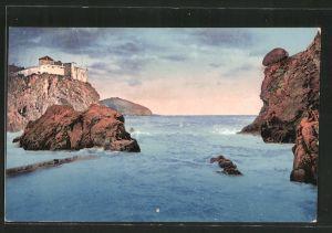 AK Ragusa, Blick auf das Meer