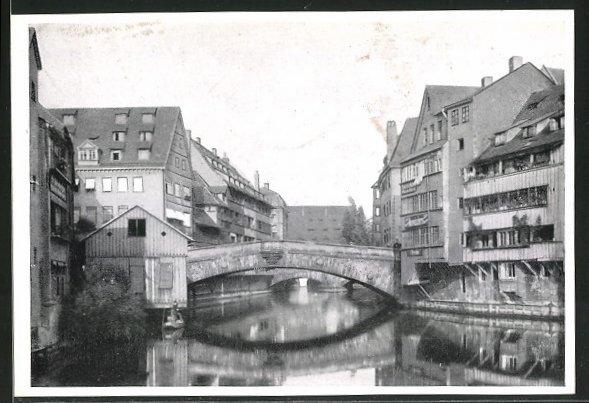 AK Nürnberg, Wasserpartie mit Fleischbrücke