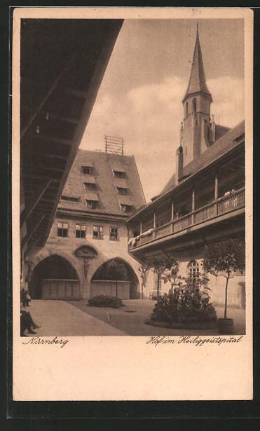 AK Nürnberg, Hof im Heiliggeistspital