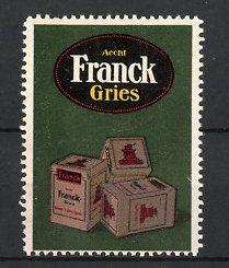 Reklamemarke Aecht Franck Gries, Gries-Packungen mit Kaffeemühle