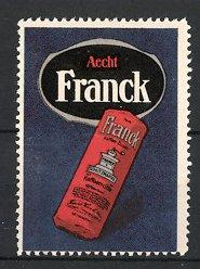 Reklamemarke Ludwigsburg, Aecht Franck Kaffee, Packung mit Kaffeemühle
