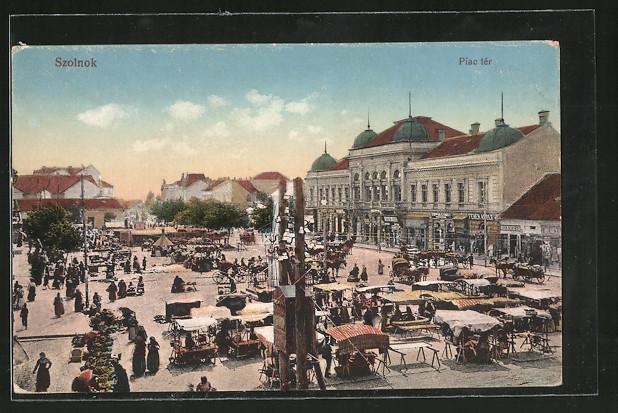 AK Szolnok, Piac tér, Marktplatz