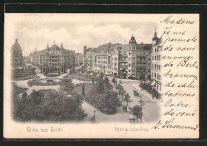 AK Berlin-Schöneberg, Viktoria Luise-Platz mit Grünanlagen