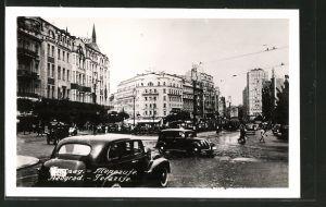 AK Beograd, Terazije, Strassenbahn