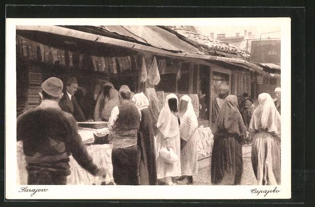AK Sarajewo, Carsija, Einwohner auf dem Markt