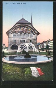 AK Le Locle, Hotel de Ville, Fontaine