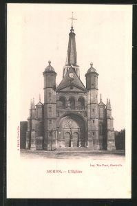 AK Mohon, l'Eglise, Blick zur Kirche