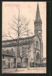 AK Grisolles, l'Eglise, Blick zur Kirche