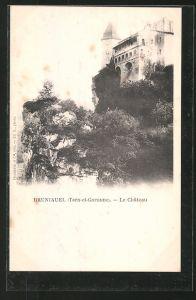 AK Bruniquel, le Chateau, Blick zum Schloss