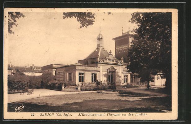 AK Saujon, l'établissement thermal, vu des jardins