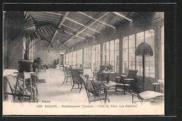 AK Saujon, etablissement thermal, villa du parc, les galeries