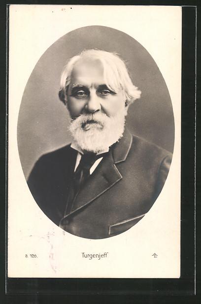 AK Turgenjeff, Portrait des Schriftstellers