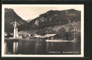 AK Walchsee, Strandbad und Kirche