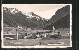 AK Galtür, Ortsansicht mit Rotwand & Gamshorn