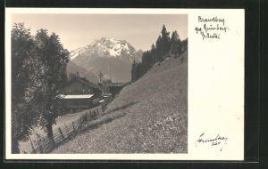 AK Brandberg, Ortsansicht gegen Grünberg