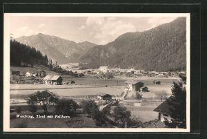 AK Waidring, Ortspanorama mit Fellhorn