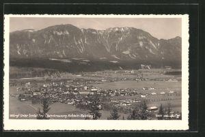 AK Wörgl i. Unterinntal, Ortspanorama mit Gebirge