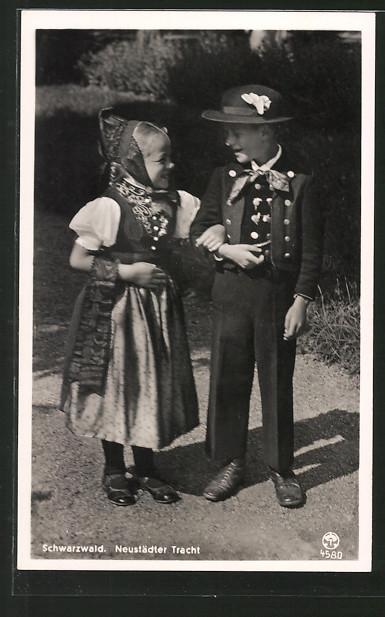 AK Neustädter Tracht, Kinder aus dem Schwarzwald