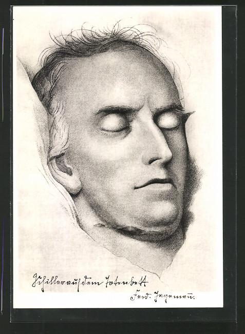 Künstler-AK Friedrich Schiller auf dem Totenbett