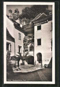 AK Graz, Hof des Gasthaus Krebsenkeller