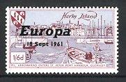 Reklamemarke Herm Island, M.L. Arrowhead enters St. Peter Port Harbour, Guernsey, Europa 1961