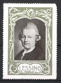 Reklamemarke Portrait Gotthold Ephraim Lessing
