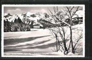 AK Unterwasser, Ski- und Ferienheim Seegüetli im Winter