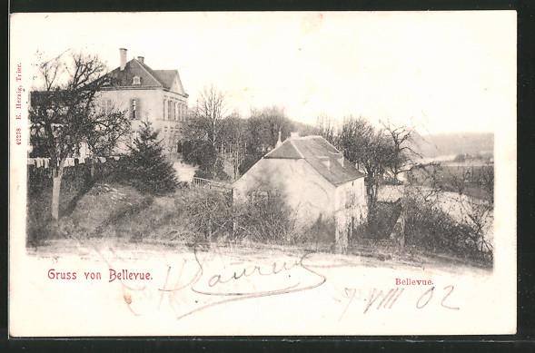 AK Trier, Ortspartie mit Bellevue