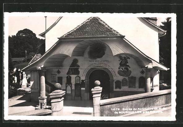 AK Bourguillon, Entrée du Sanctuaire de Notre Dame du Carmel