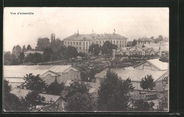 AK Lausanne, VIII. Exposition Suisse d'agriculture 1910, vue de'ensemble