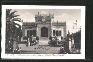 AK Sevilla, Exposicion Ibero Americana, Plaza de America, Pabellon Real