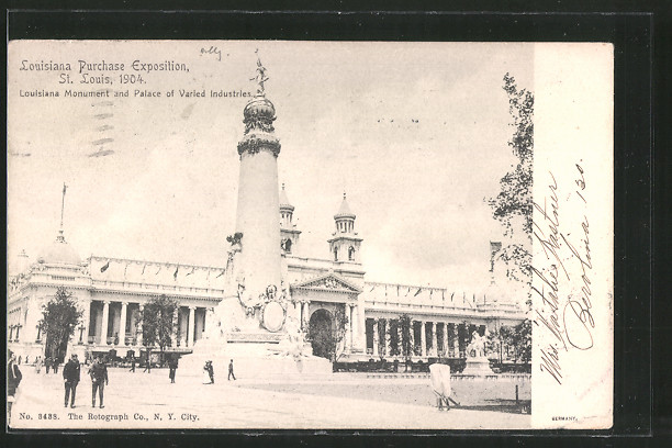 AK St. Louis, Louisiana Purchase Exposition 1904, Louisiana Monument and Palace of Varied Industries