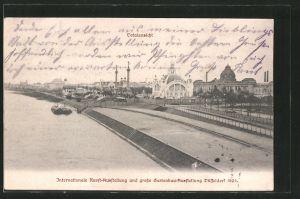 AK Düsseldorf, Internationale Kunst-Ausstellung und grosse Gartenbau-Ausstellung 1904, Totalansicht
