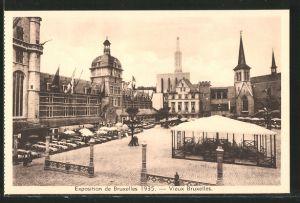 AK Bruxelles, Exposition 1935, Ausstellung, Blick auf das Ausstellungs-Gelände