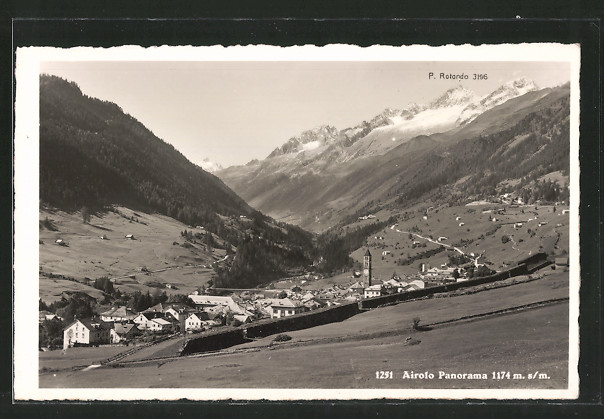 AK Airolo, Panorama & P. Rotondo