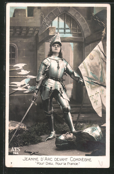 AK Jeanne d'Arc devant Compiègne, Johanna von Orleans