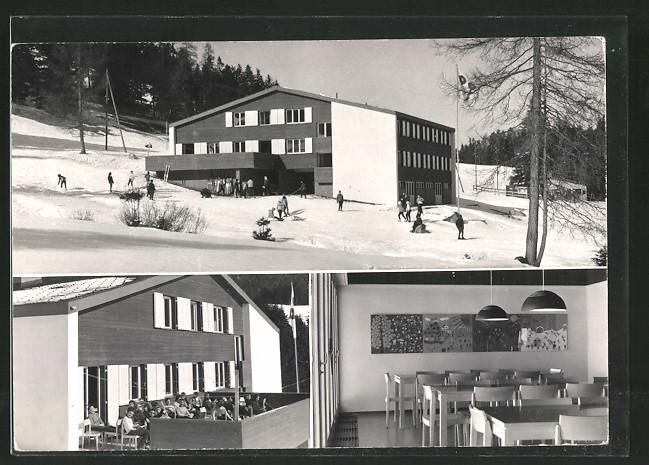 AK Lenzerheide, Rapperswiler Ferienhaus im Winter, Aussen- u. Innenansichten