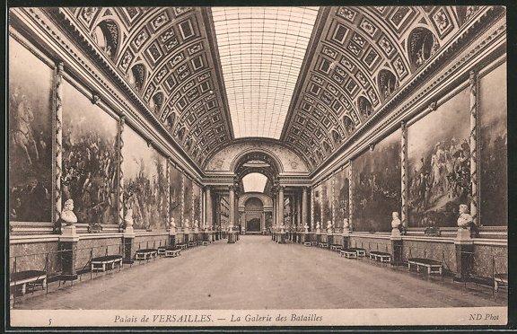 AK Versailles, Palais, la galerie des batailles, intérieur Nr ...