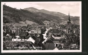 AK Bruck a. Mur, Blick vom Schlossberg auf die Stadt