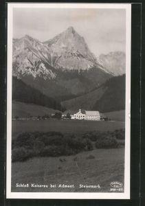 AK Admont, Blick auf Schloss Kaiserau
