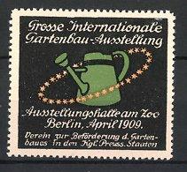 Reklamemarke Berlin, Gartenbau-Ausstellung 1909, Giesskanne