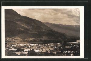 AK Jenbach, Ortsansicht mit Bergpanorama