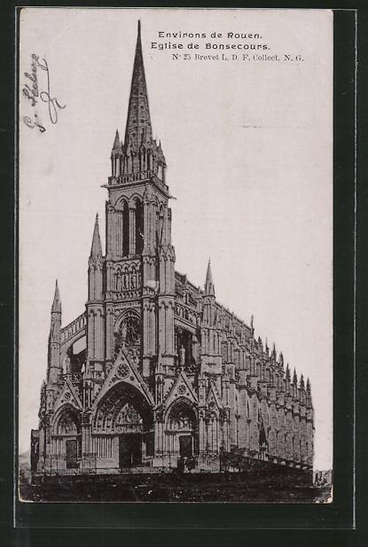 AK Bonsecours, l'Eglise, Blick zur Kirche