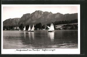 AK Mondsee, Segelboote auf dem See