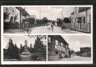 AK Kraupa, Dorfstrasse, Kriegerdenkmal und Kolonialwarenladen