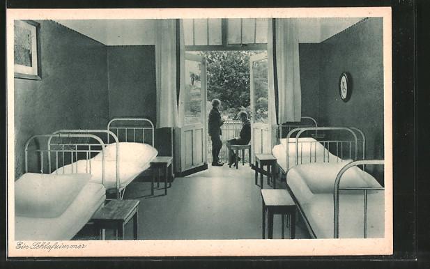 AK Müritz, Genesungsheim Lindenhof, ein Schlafzimmer