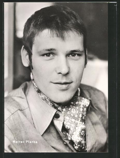 AK Portrait des Schauspielers Walter Plathe