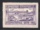 Reklamemarke Gand - Gent, Exposition Universelle Internationale 1913, Entr�e Automobile