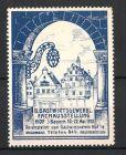 Reklamemarke Hof, II. Gastwirtsgewerbl. Fachausstellung 1913, Geb�udeansicht & Aush�ngeschild einer Gastwirtschaft