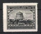 Reklamemarke Aschersleben, Briefmarkenausstellung 1933, Befreiungshalle bei Kelheim
